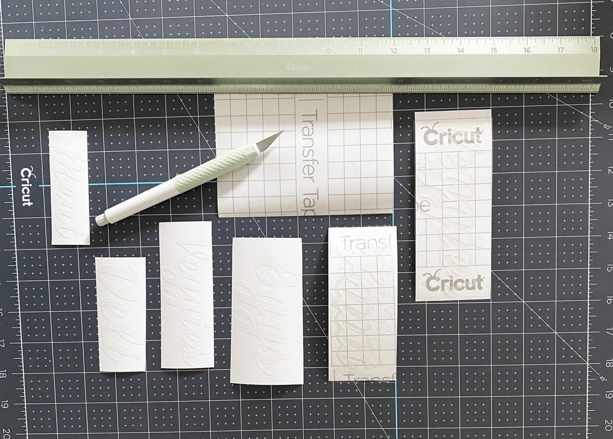 Cricut Fridge Labels
