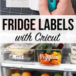 refrigerator labels with Cricut