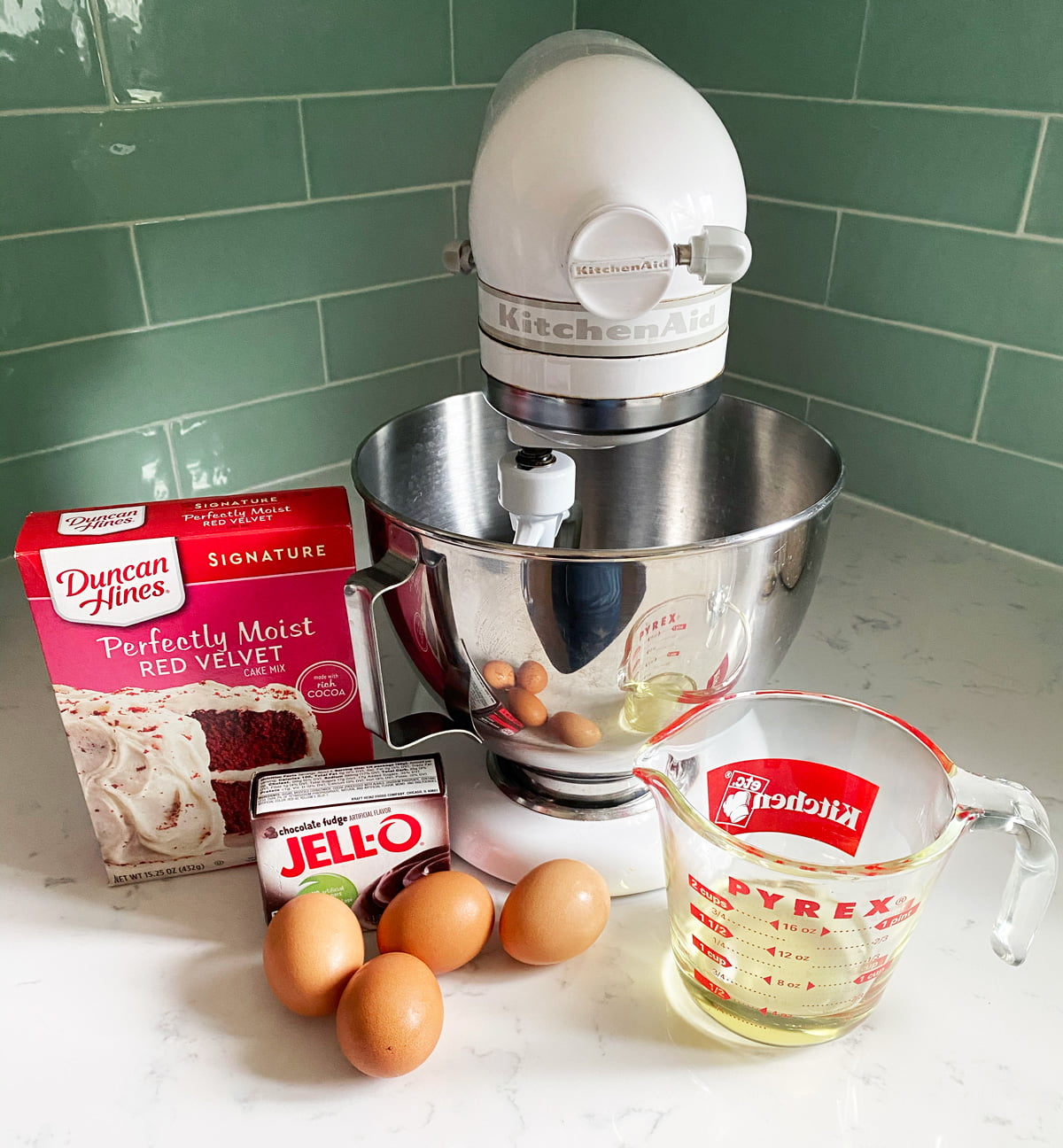 Red Velvet Bundt Cake ingredients