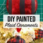 DIY Plaid Ornaments