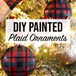 DIY Painted Plaid Ornaments