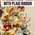 Christmas Tree with Plaid Ribbon