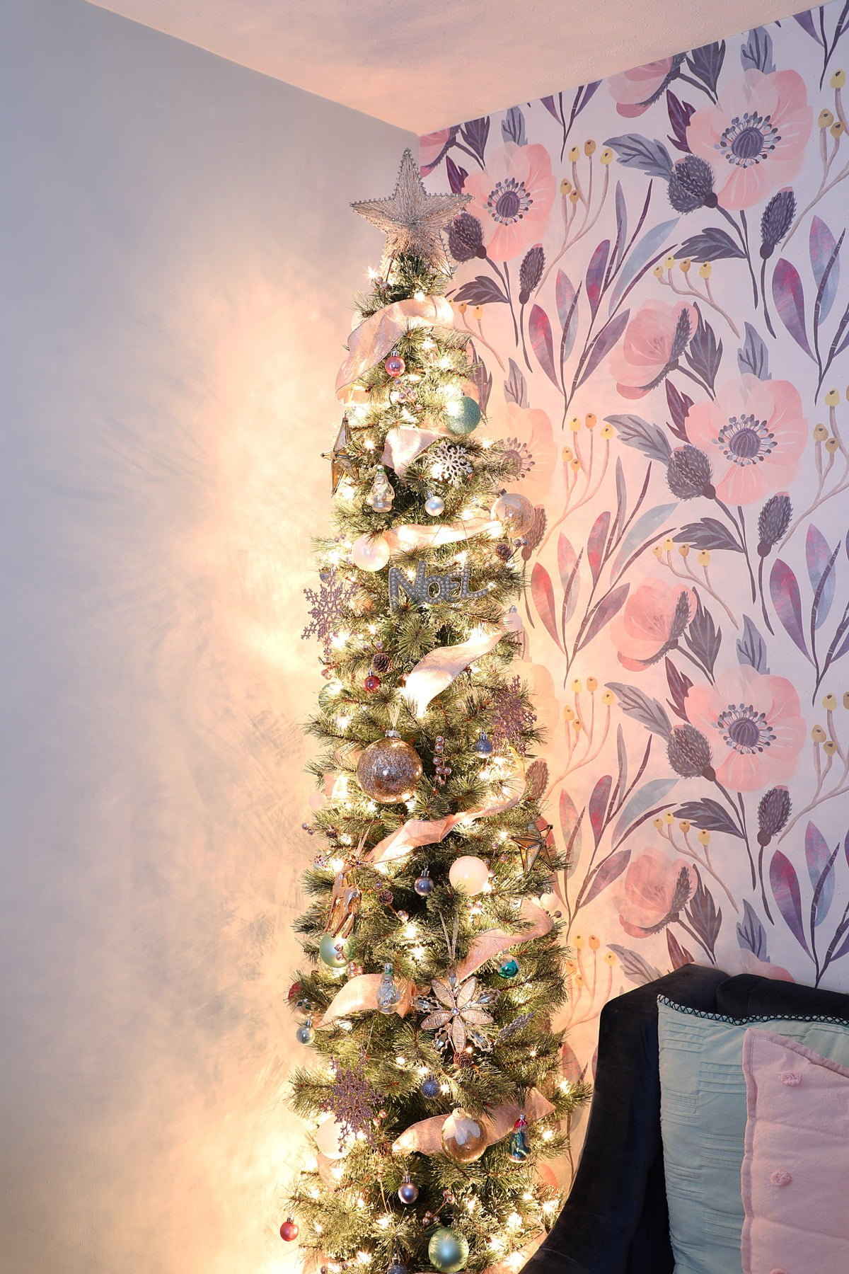 pink pencil Christmas tree