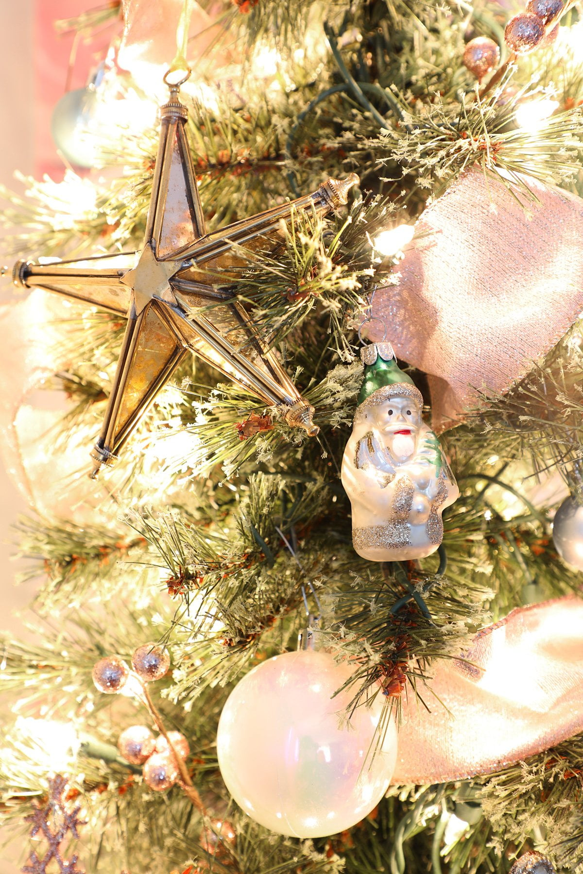 mirrored star ornament