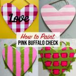 How to Paint Pink Buffalo Check Plaid