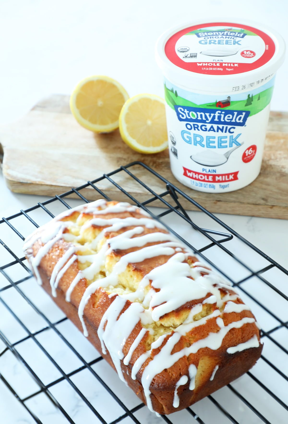 Lemon Pound Cake with yogurt