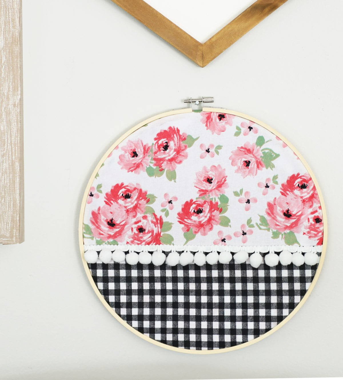 No Sew Embroidery Hoop Art