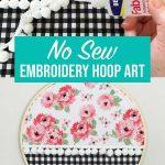 no sew hoop art