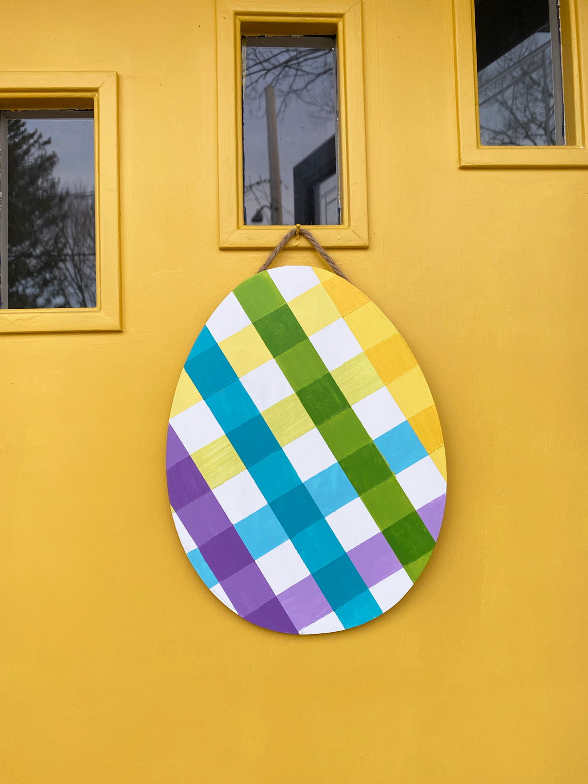 How To Paint Multicolored Plaid