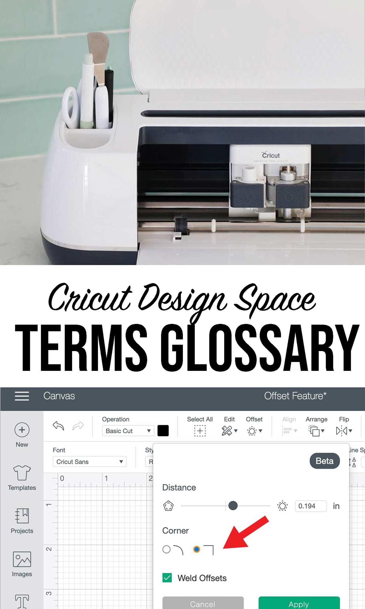 Cricut Design Space Terms