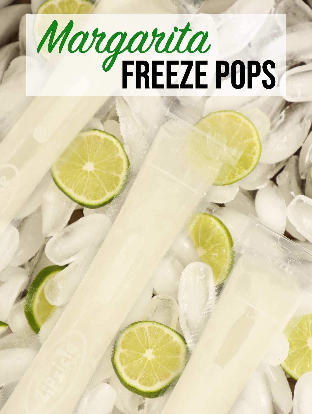 Margarita tequila freeze pops