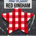 How To Paint Red Gingham