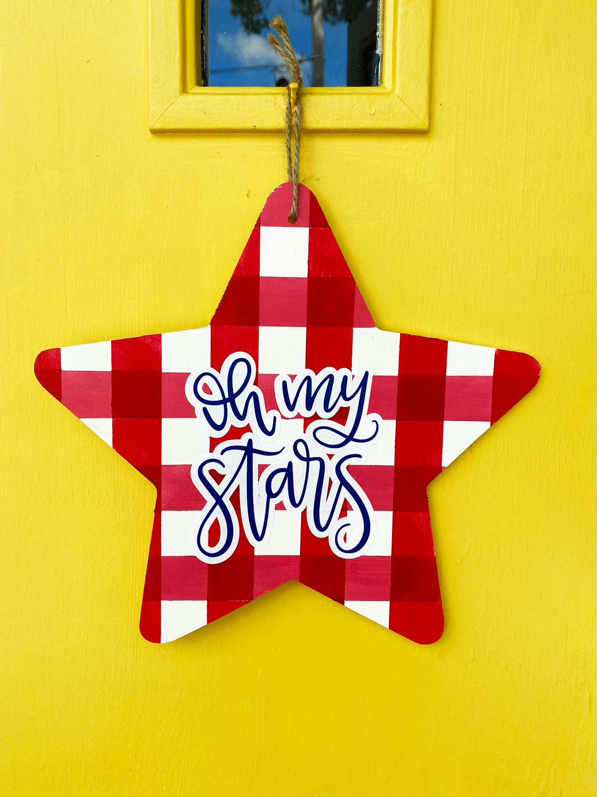 how to paint gingham for july 4th
