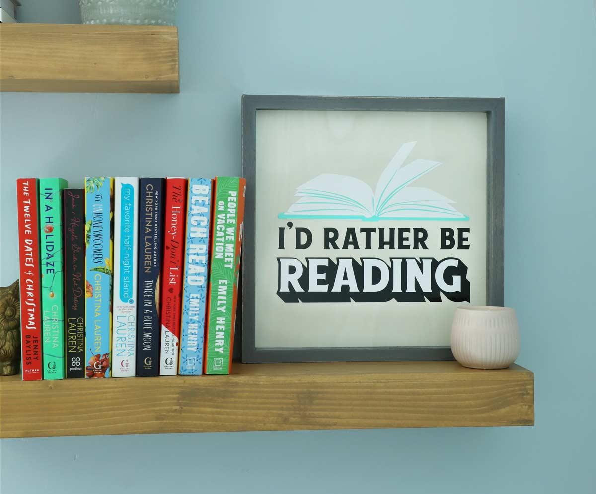 DIY Book Sign with Cricut