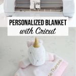 Personalized baby blanket with Cricut