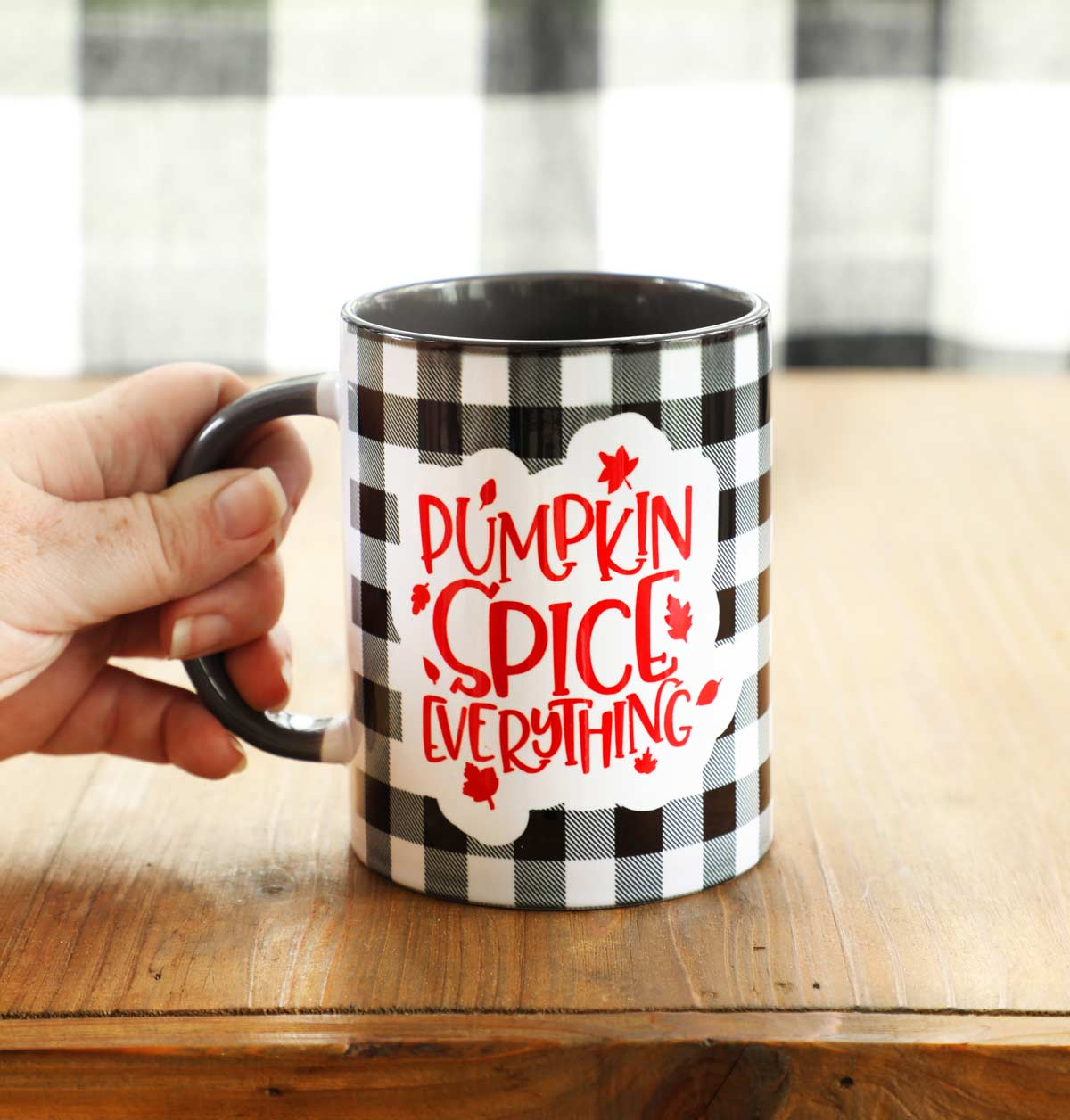 Buffalo Check Pumpkin Spice Mug