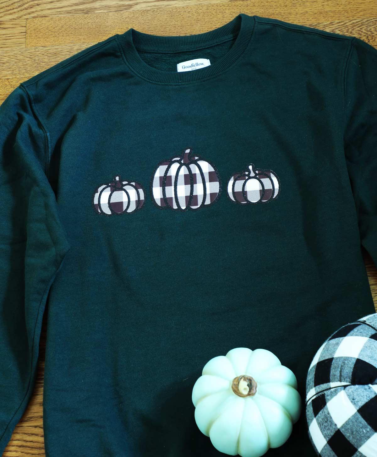 Buffalo Check Pumpkin Sweatshirt Cricut