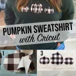 Pumpkin Sweatshirt with Cricut