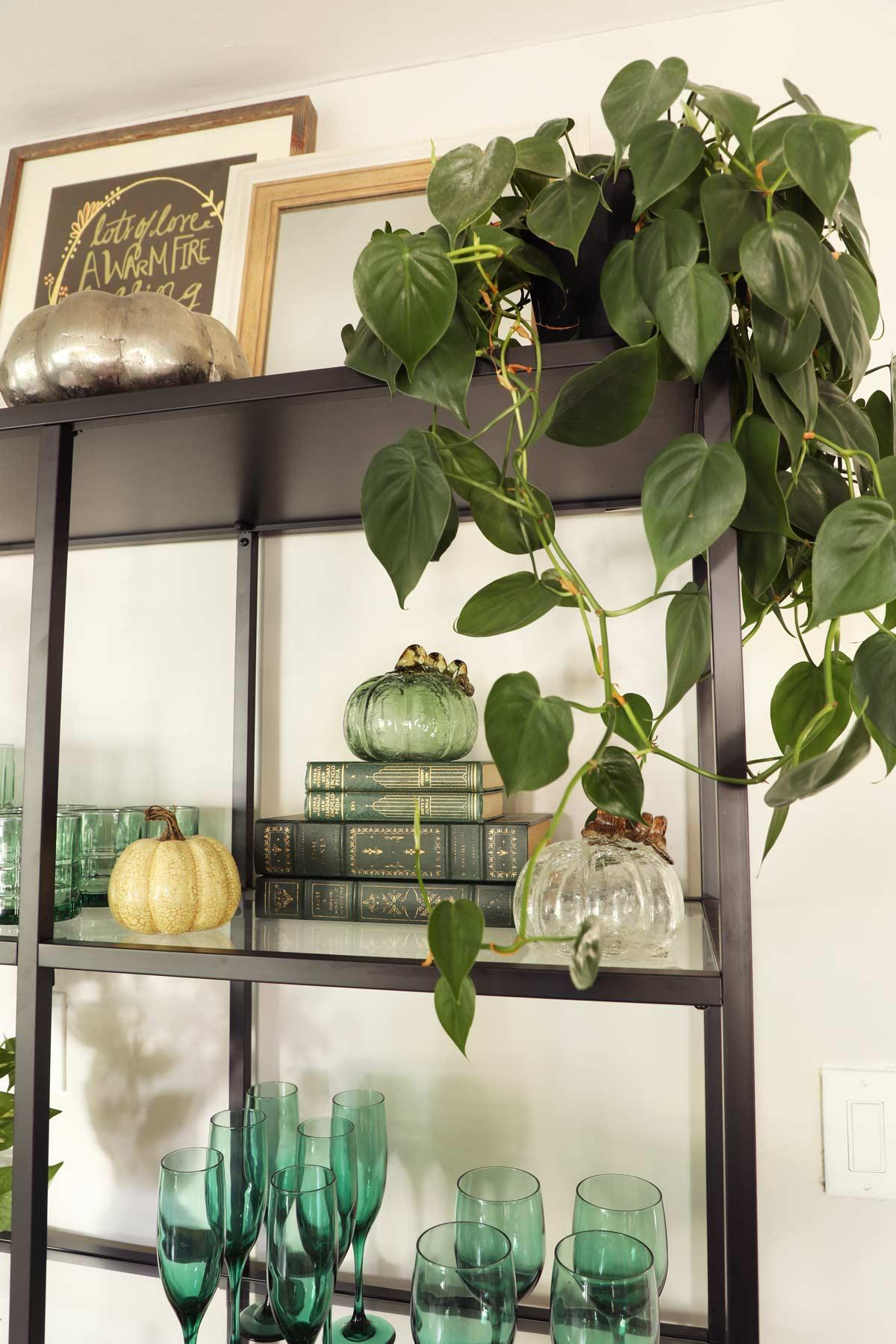 Fall decor glass pumpkins