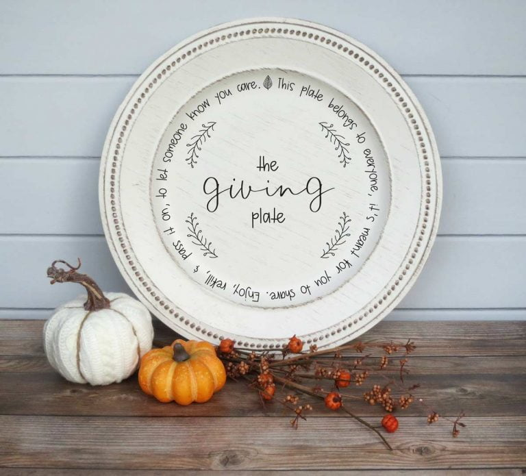 The Giving Plate SVG